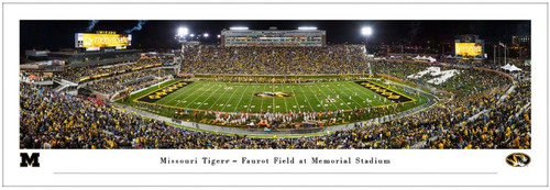 "Missouri Tigers ""50 Yard Line"" at Faurot Field Panoramic Poster"