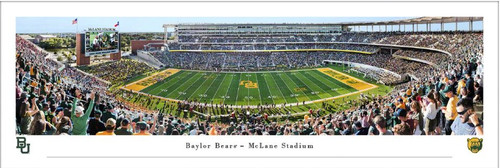 "Baylor Bears ""50 Yard Line"" at McLane Stadium Panoramic Poster"