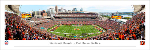 "Cincinnati Bengals ""50 Yard Line"" at Paul Brown Stadium Panoramic Poster"