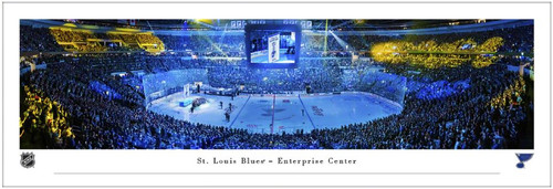 "St. Louis Blues ""Banner Raising"" at the Enterprise Center Panoramic Poster"