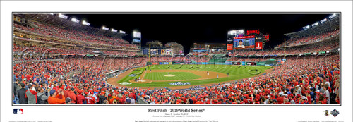 """2019 World Series """"First Pitch"""" Nationals Park Panoramic Poster"""