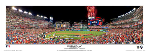 """2019 World Series """"Opening Ceremony"""" Nationals Park Panoramic Poster"""