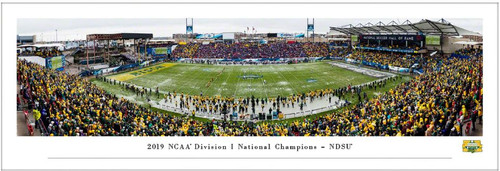 2020 NCAA FCS Football Championship North Dakota State Bison Panoramic Poster
