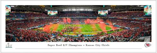 Super Bowl LIV Champions Kansas City Chiefs Panoramic Poster