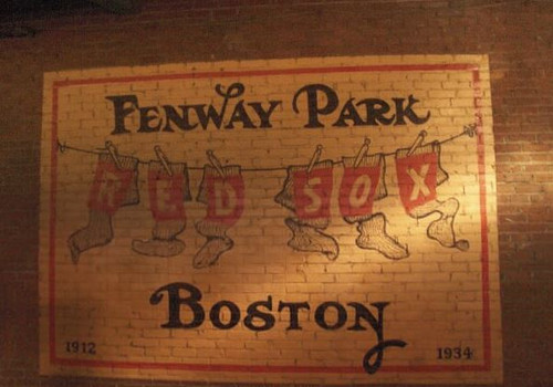 Boston Red Sox at Fenway Park Logo Print