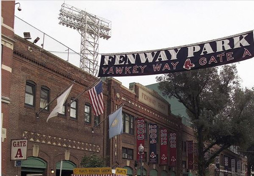 Copy of Boston Red Sox at Fenway Park Yawkey Way Print