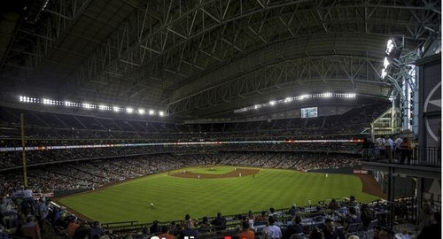 Houston Astros at Minute Maid Park Centerfield Print