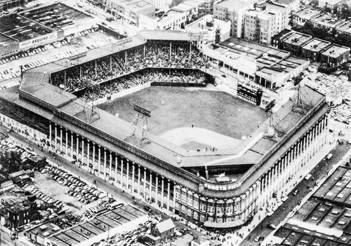 Brooklyn Dodgers at Ebbets Field Aerial Print