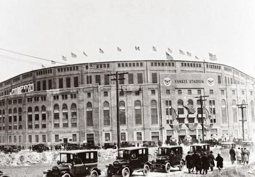 New York Yankees at old Yankee Stadium Exterior Print