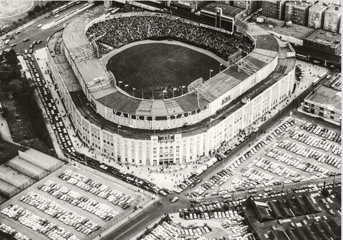 New York Yankees at old Yankee Stadium Aerial Print