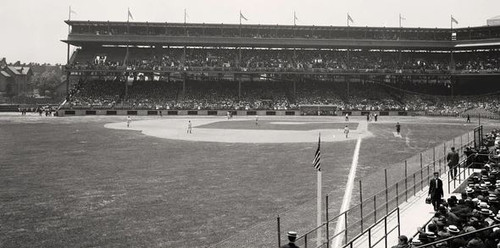 Pittsburgh Pirates at Forbes Field Foul Line Print