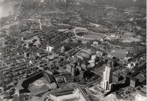 Pittsburgh Pirates at Forbes Field Aerial Print