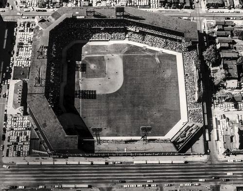 St. Louis Cardinals at Sportsmans Park Aerial Print