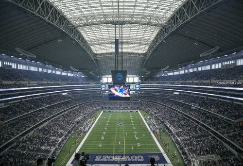 Dallas Cowboys at AT&T Stadium EndZone Print