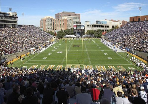 Vanderbilt Commodores at Vanderbilt Stadium Endzone Print