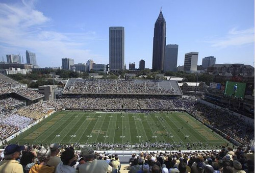 Georgia Tech Yellow Jackets at Bobby Dodd Stadium Print
