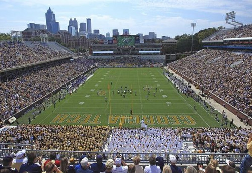 Georgia Tech Yellow Jackets at Bobby Dodd Stadium EndZone Print