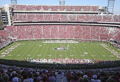 Georgia Bulldogs at Sanford Stadium 50 Yard Line Print