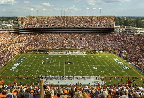Auburn Tigers at Jordan Hare Stadium Print