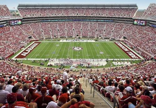 Alabama Crimson Tide at Bryant Denny Stadium Print