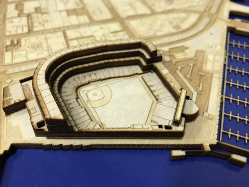 San Francisco, CA City Stadium Map Art