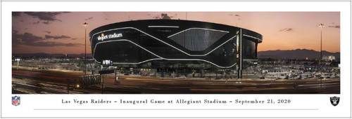 Las Vegas Raiders at Allegiant Stadium Panoramic Poster