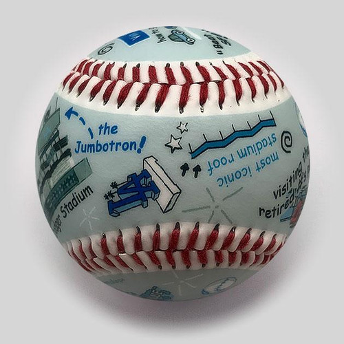 Dodger Stadium Die-Hard Fan Baseball