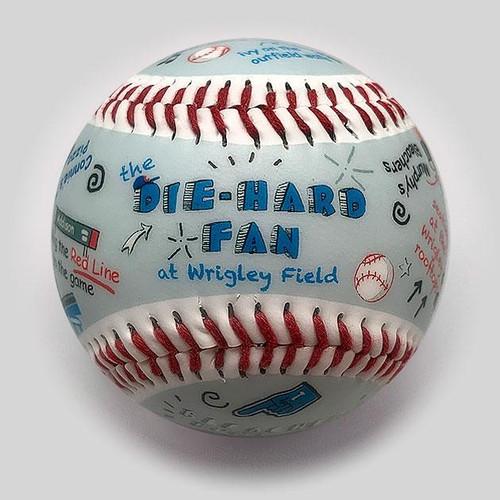 Wrigley Field Die-Hard Fan Baseball