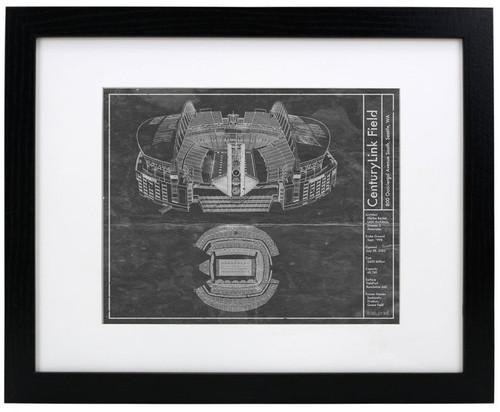 CenturyLink Field - Seattle Seahawks Blueprint Poster