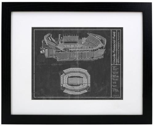 Lincoln Financial Field - Philadelphia Eagles Blueprint Poster