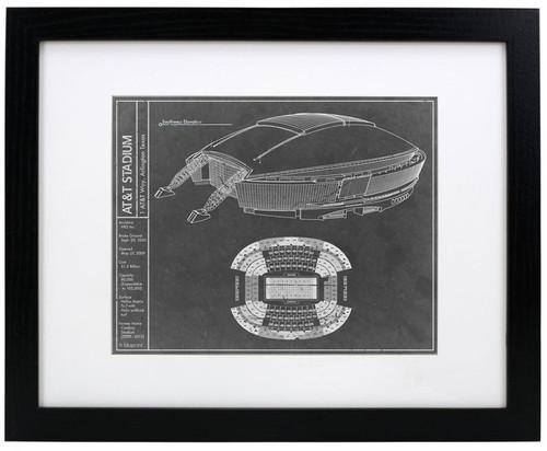AT&T Stadium - Dallas Cowboys Blueprint Poster