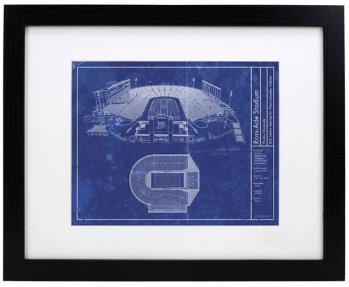 Ross Ade Stadium - Purdue Boilermakers Blueprint Poster