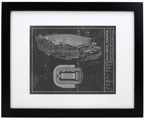 Sun Devil Stadium - Arizona State Sun Devils Blueprint Poster