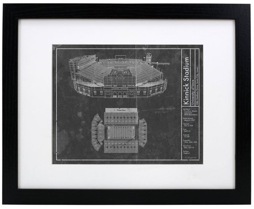 Kinnick Stadium - Iowa Hawkeyes Blueprint Poster