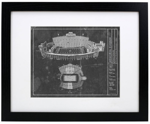 Memorial Stadium - Indiana Hoosiers Blueprint Poster