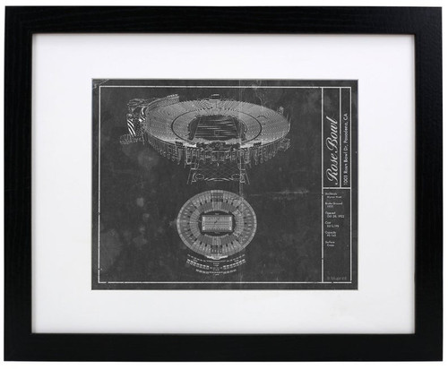Rose Bowl Stadium Blueprint Poster