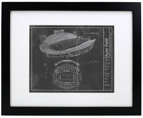 Ryan Field - Northwestern Wildcats Blueprint Poster