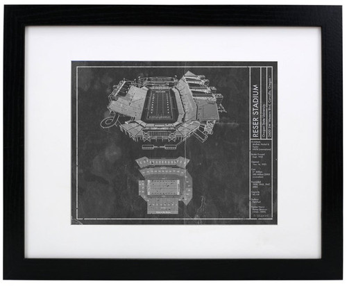 Reser Stadium - Oregon State Beavers Blueprint Poster
