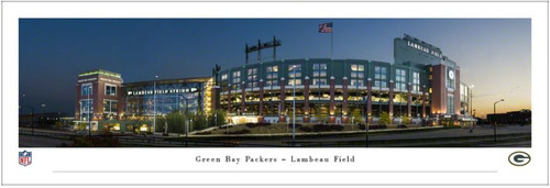 Green Bay Packers at Lambeau Field Exterior Panoramic Poster