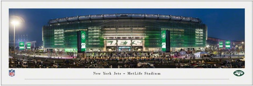 New York Jets at MetLife Stadium Exterior Panoramic Poster
