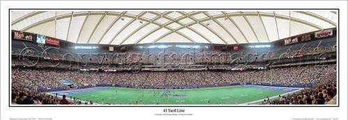 "Detroit Lions ""43 Yard Line"" Pontiac Silverdome Panoramic Poster"