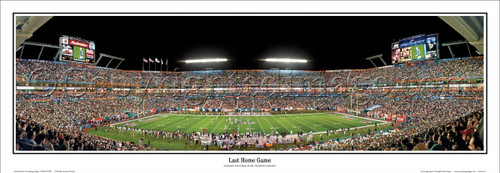 "Miami Dolphins ""Last Home Game"" Sun Life Stadium Panoramic Poster"