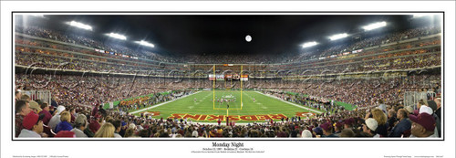 "Washington Redskins ""Monday Night"" FedEx Field Panoramic Poster"
