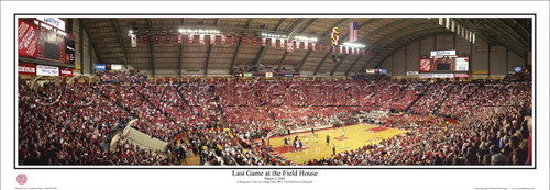 """Maryland Terrapins """"Last Game at the Field House"""" Cole Field House Panoramic Poster"""