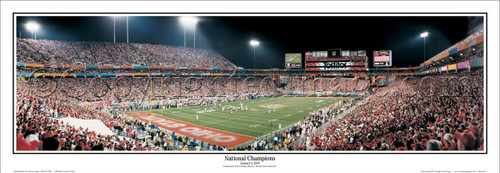 "Ohio Buckeyes ""National Champions"" Panoramic Poster"