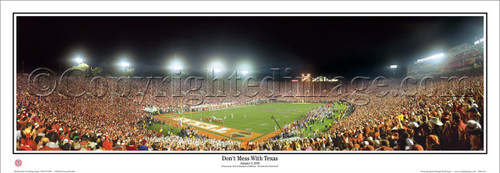"Texas Longhorns ""National Champions"" Panoramic Poster"