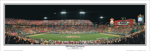"""Tennessee Volunteers """"1998 National Champions"""" Panoramic Poster"""
