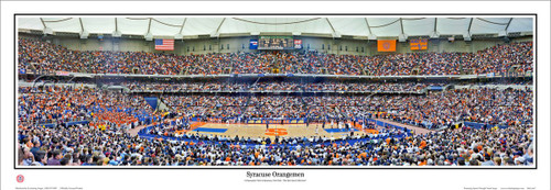 Syracuse Orangemen at the Carrier Dome Panoramic Poster
