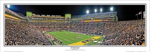 "LSU Tigers ""21 Yard Line"" Tiger Stadium Panoramic Poster"