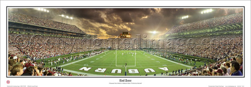"Auburn Tigers ""End Zone"" Jordan Hare Stadium Panoramic Poster"